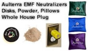Aulterra EMF Neutralizer Products: Disks, Whole House Plug, Pillows, Powder, Supplements image
