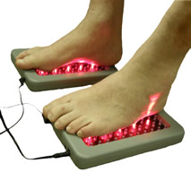 Far infrared deep penetrating light treatment for feet image
