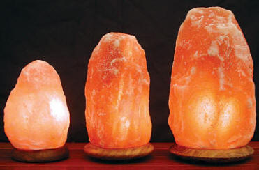 Himalayan Salt Crystal Lamp - Mini, Small, Medium and Large