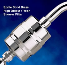 Sprite Solid Brass High Output 1 Year Shower Water Filter image